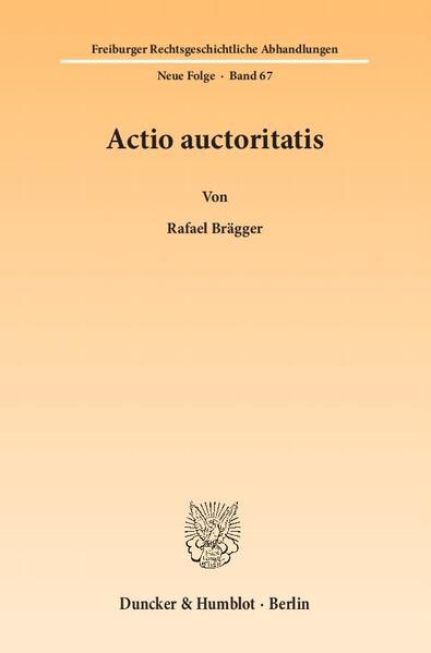 Actio auctoritatis. - Coverbild