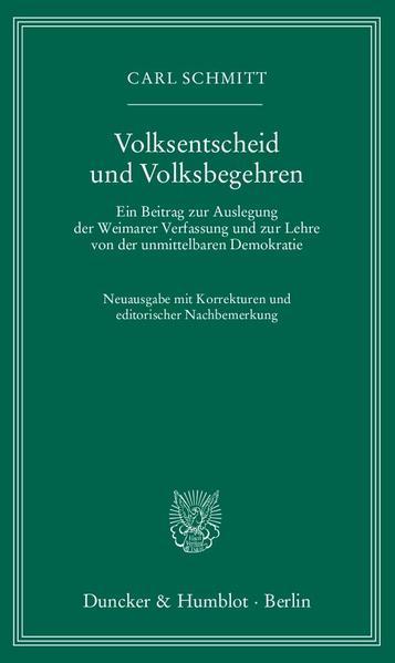 Volksentscheid und Volksbegehren. PDF