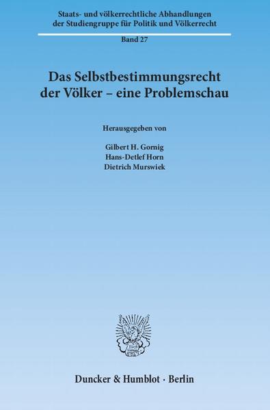 Das Selbstbestimmungsrecht der Völker – eine Problemschau. - Coverbild