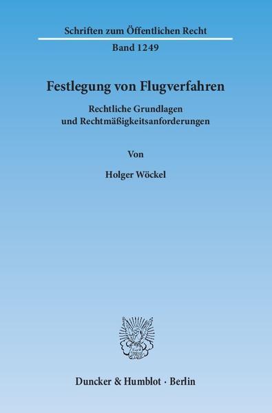 Festlegung von Flugverfahren. - Coverbild