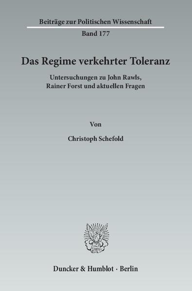 Das Regime verkehrter Toleranz. - Coverbild