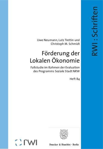 Förderung der Lokalen Ökonomie. - Coverbild