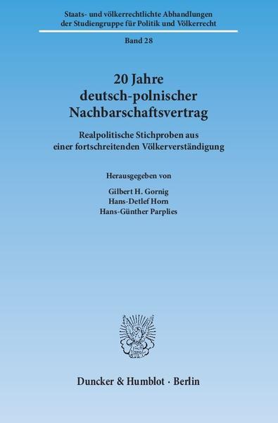 20 Jahre deutsch-polnischer Nachbarschaftsvertrag. - Coverbild