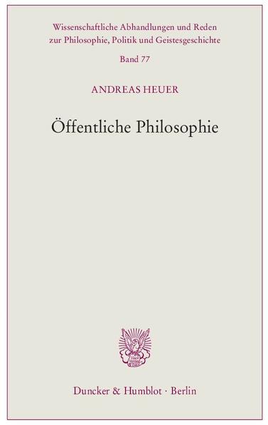 Öffentliche Philosophie. - Coverbild