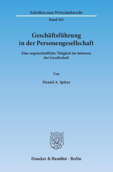 Geschäftsführung in der Personengesellschaft. - Coverbild
