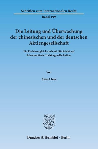 Die Leitung und Überwachung der chinesischen und der deutschen Aktiengesellschaft. - Coverbild