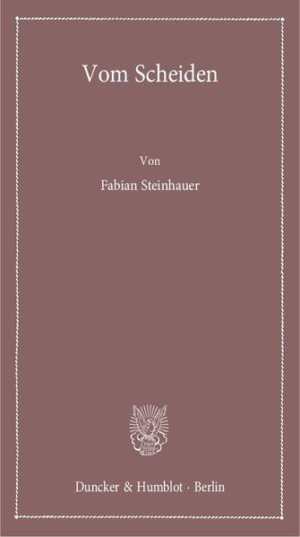 Vom Scheiden. - Coverbild