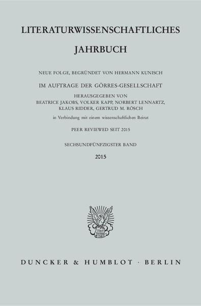 Literaturwissenschaftliches Jahrbuch. - Coverbild
