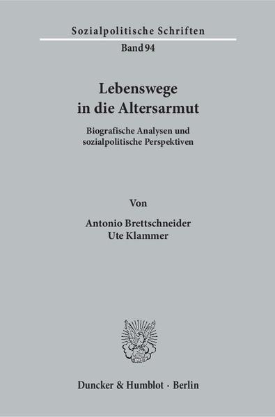 Lebenswege in die Altersarmut. - Coverbild