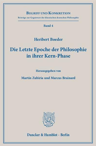 Die Letzte Epoche der Philosophie in ihrer Kern-Phase. - Coverbild