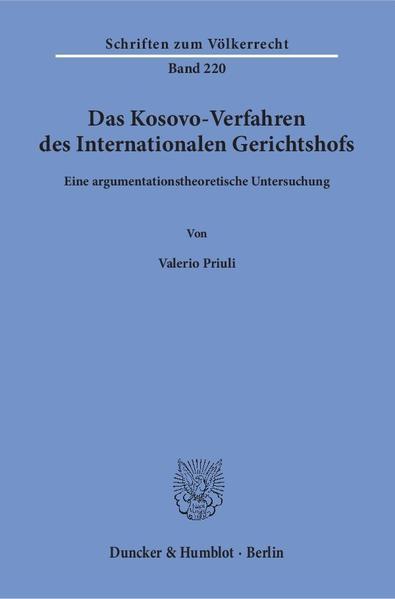Das Kosovo-Verfahren des Internationalen Gerichtshofs. - Coverbild