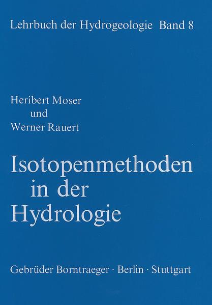 Lehrbuch der Hydrogeologie / Isotopenmethoden in der Hydrologie - Coverbild