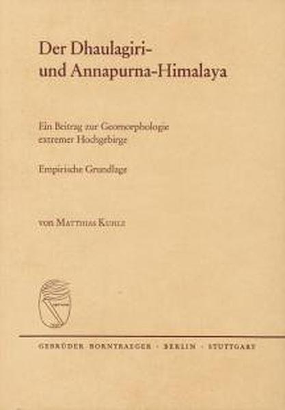 Der Dhaulagiri- und Annapurna-Himalaya - Coverbild