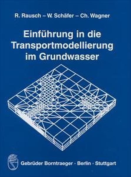 Einführung in die Transportmodellierung im Grundwasser - Coverbild