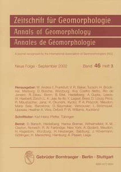 Tectonic Geomorphology. Proceedings of the Fourth International Conference on Geomorphology, Bologna 1997. Vol. III - Coverbild