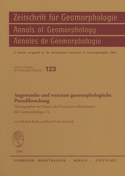 Angewandte und vernetzte geomorphologische Prozessforschung - Coverbild