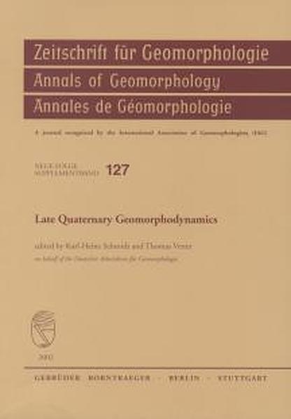 Late Quaternary Geomorphodynamics - Coverbild