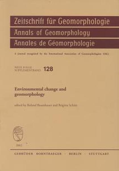 Environmental change and geomorphology - Coverbild