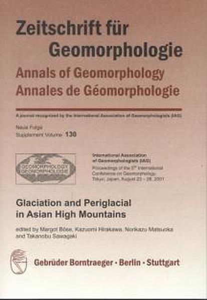 Glaciation and Periglacial in Asian High Mountains - Coverbild