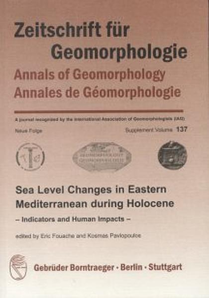 Sea Level Changes in Eastern Mediterranean during Holocene Indicators and Human Impacts - Coverbild