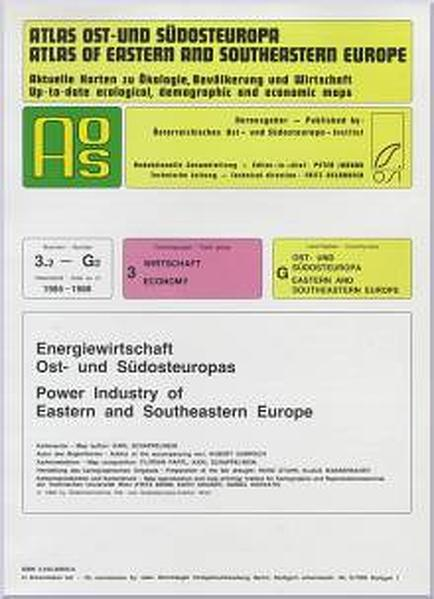 Atlas Ost- und Südosteuropa /Atlas of Eastern and Southeastern Europe.... / Nr 3: Wirtschaft /Economy / Energiewirtschaft Ost- und Südosteuropa /Power Industry of Eastern and Southeastern Europe - Coverbild