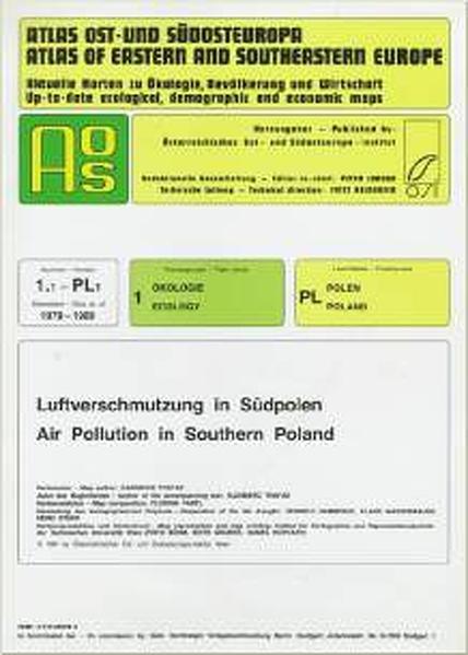 Atlas Ost- und Südosteuropa /Atlas of Eastern and Southeastern Europe.... / Nr 1: Ökologie /Ecology / Luftverschmutzung in Südpolen /Air Pollution in Southern Poland - Coverbild