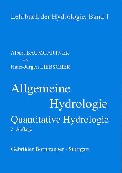 Lehrbuch der Hydrologie / Allgemeine Hydrologie - quantitative Hydrologie - Coverbild