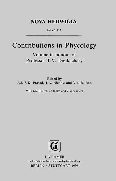 Contributions in Phycology - Coverbild