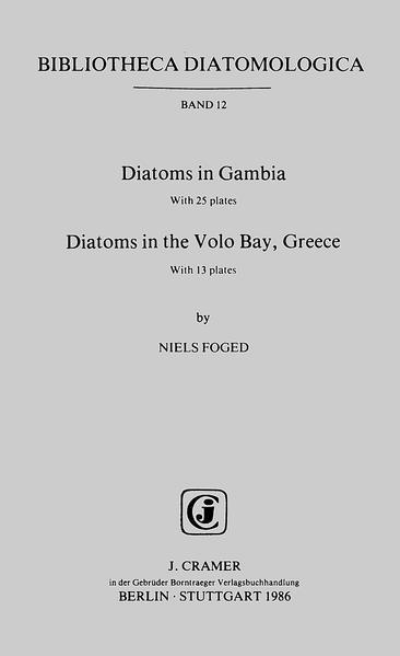 Diatoms in Gambia. Diatoms in the Volo Bay, Greece - Coverbild