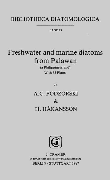 Freshwater and marine diatoms from Palawan (a Philippine island) - Coverbild