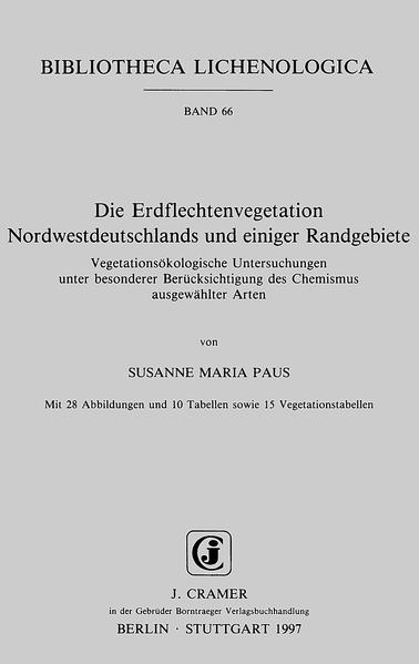 Die Erdflechtenvegetation Nordwestdeutschlands und einiger Randgebiete - Coverbild