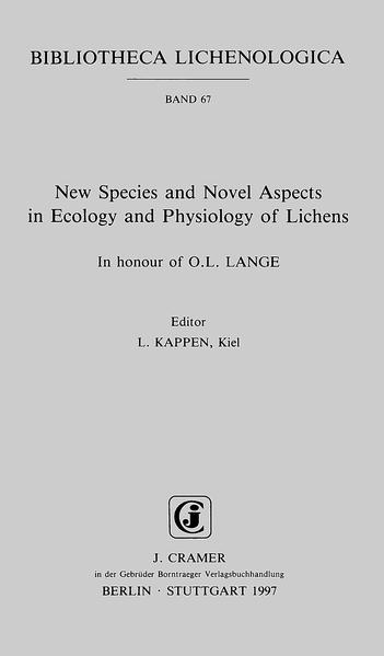 New Species and Novel Aspects in Ecology and Physiology of Lichens - Coverbild
