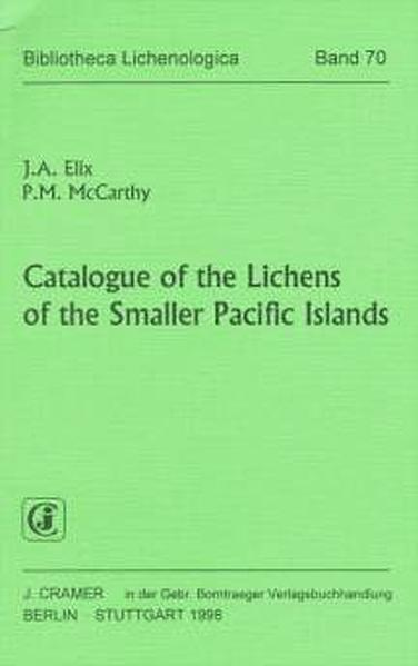 Catalogue of the Lichens of the Smaller Pacific Islands - Coverbild