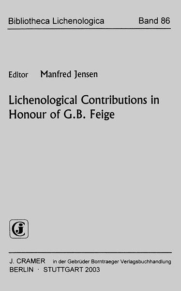 Lichenological Contributions in Honour of G.B. Feige - Coverbild
