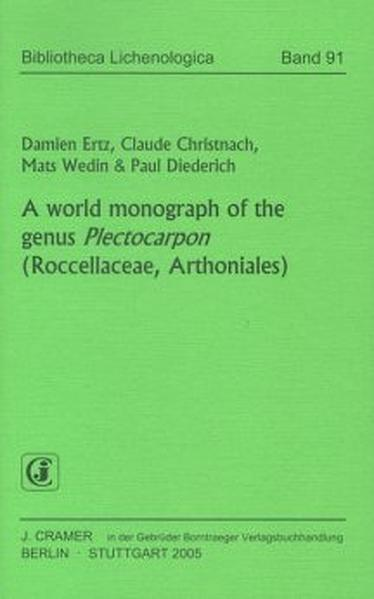 A World monograph of the genus Plectocarpon (Roccellaceae, Arthoniales) - Coverbild