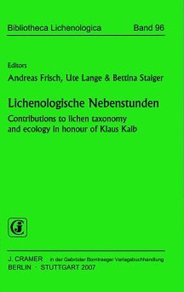 Lichenologische Nebenstunden - Coverbild
