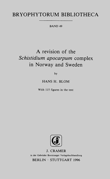 A revision of the Schistidium apocarpum complex in Norway and Sweden - Coverbild