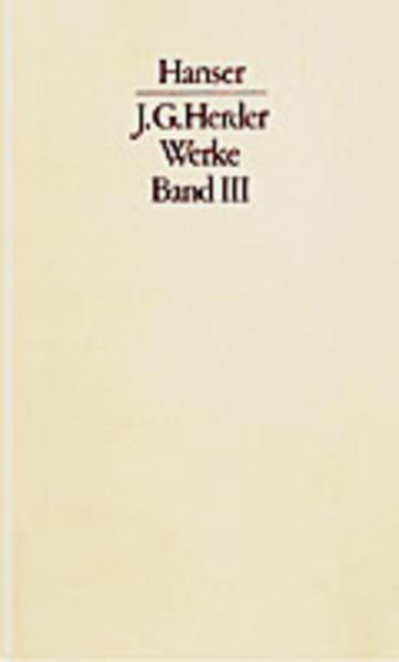 Werke Band III. Textband und Kommentarband - Coverbild