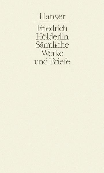 Sämtliche Werke und Briefe Band II - Coverbild