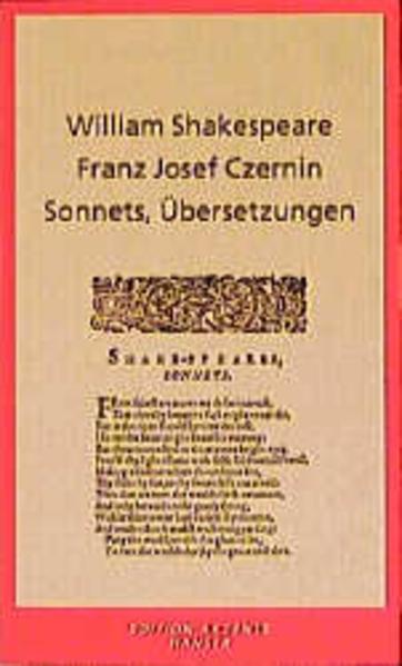 Sonnets, Übersetzungen - Coverbild