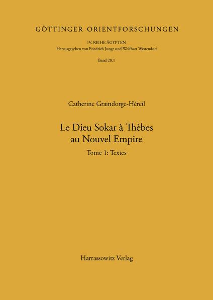 Le dieu Sokar à Thèbes au Nouvel Empire - Coverbild