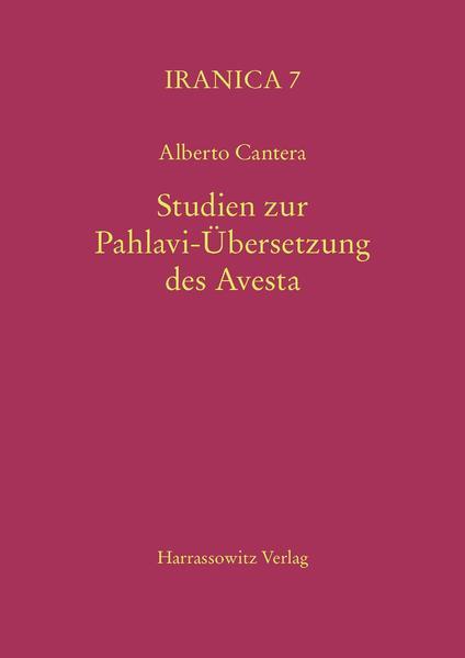 Studien zur Pahlavi-Übersetzung des Avesta - Coverbild