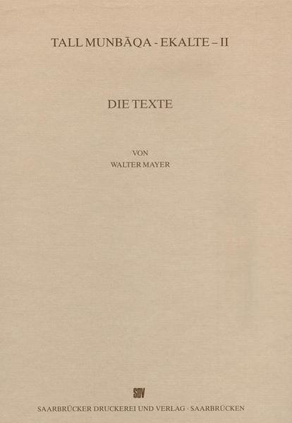 Tall Munbaqa-Ekalte II, Die Texte - Coverbild