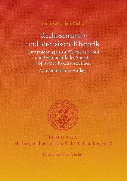 Rechtssemantik und forensische Rhetorik - Coverbild