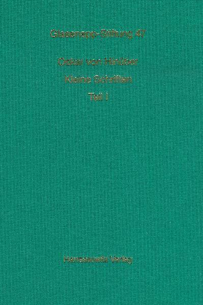 Kleine Schriften - Coverbild