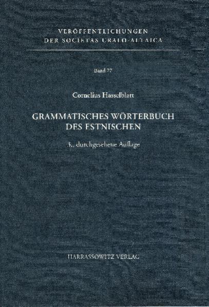 Grammatisches Wörterbuch des Estnischen - Coverbild