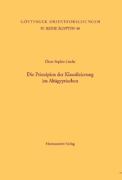 Die Prinzipien der Klassifizierung im Altägyptischen - Coverbild