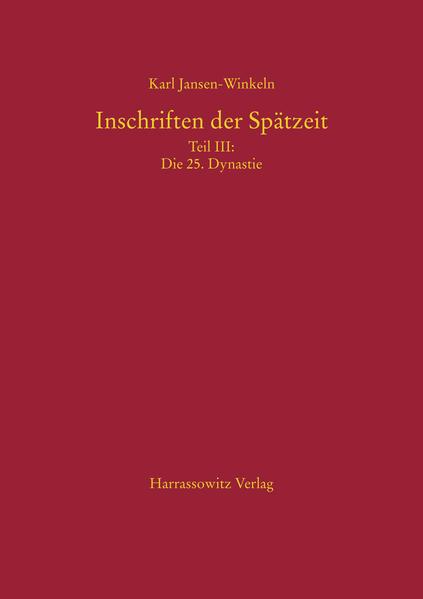 Inschriften der Spätzeit - Coverbild