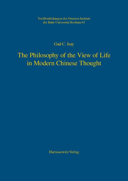 The Philosophy of the View of Life in Modern Chinese Thought - Coverbild