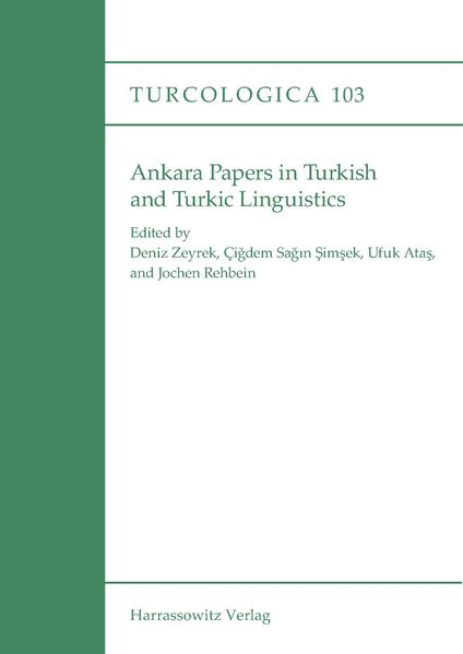 Ankara Papers in Turkish and Turkic Linguistics - Coverbild